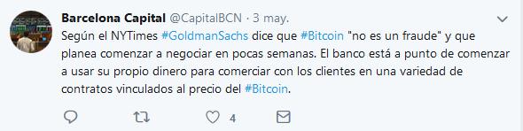 Goldman sachs noticias bitcoin