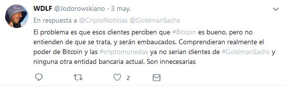goldman sachs twitter noticias español