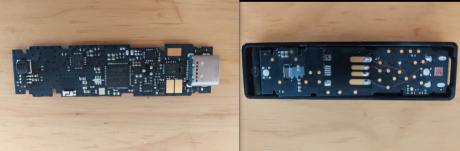 Comparación lado a lado de dispositivos Ledger originales y fraudulentos